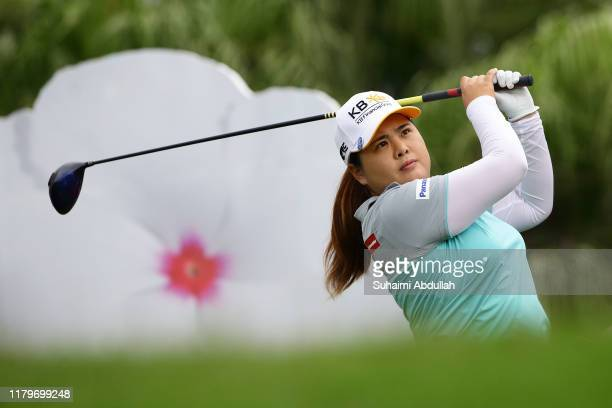 Inbee Park of South Korea in action during the final round of the Taiwan Swinging Skirts LPGA Presented By CTBC at Miramar Golf Country Club on...