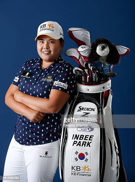 Inbee Park of South Korea Poses for a portrait prior to the Meijer LPGA Classic presented by Kraft at Blythefield Country Club on July 22 2015 in...
