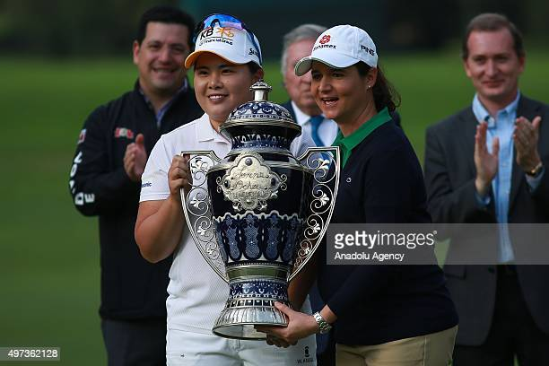 Inbee Park of South Korea poses with Lorena Ochoa during final round of the Lorena Ochoa Invitational at the Club de Golf Mexico in Mexico City...