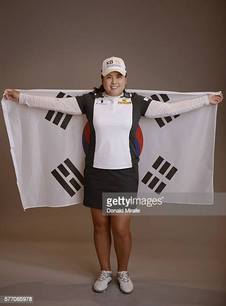 Inbee Park poses for a portrait during the KIA Classic at the Park Hyatt Aviara Resort on March 22 2016 in Carlsbad California