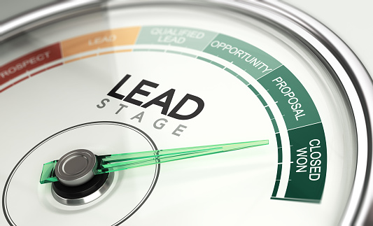 Inbound Marketing and Sales Process Concept, Leads Stage 1155926450