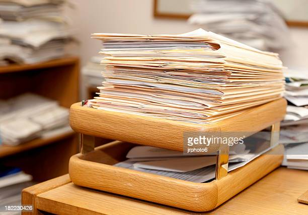 inbox - inbox filing tray stock pictures, royalty-free photos & images