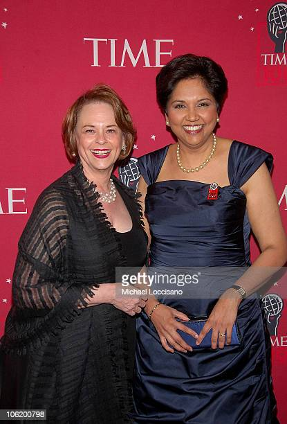 "Inc. Chairman and CEO Anne Moore and PepsiCo. CEO Indra Nooyi attend Time's ""100 Most Influential People In The World"" Gala at Jazz at Lincoln Center..."