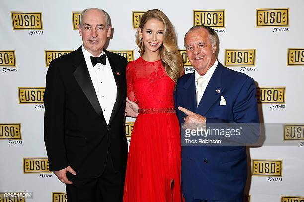 Inc JD Crouch II Miss USA 2015 Olivia Jordan and Actor Tony Sirico attend the USO 75th Anniversary Armed Forces Gala Gold Medal Dinner at Marriott...