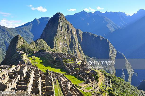 inca city of machu picchu, peru - マチュピチュ ストックフォトと画像