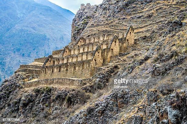 Inca Ruins in Peru - Ollantaytambo Fortress