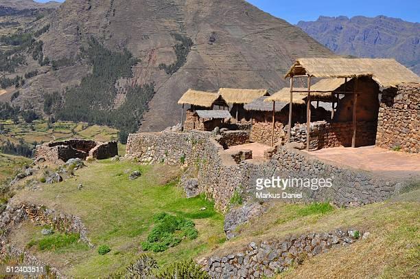 "inca ruins in pisac, peru - ""markus daniel"" stock pictures, royalty-free photos & images"