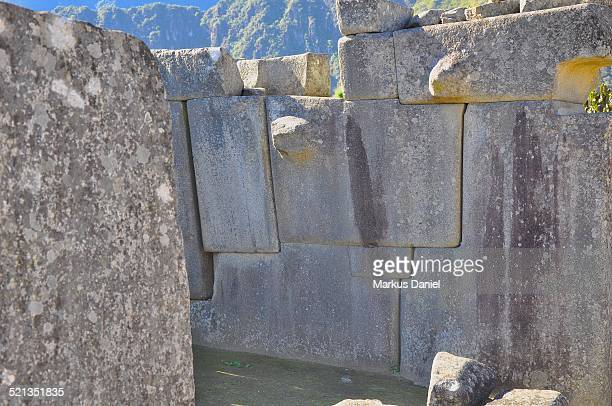 "inca ruins wall in machu picchu, peru - ""markus daniel"" stock pictures, royalty-free photos & images"