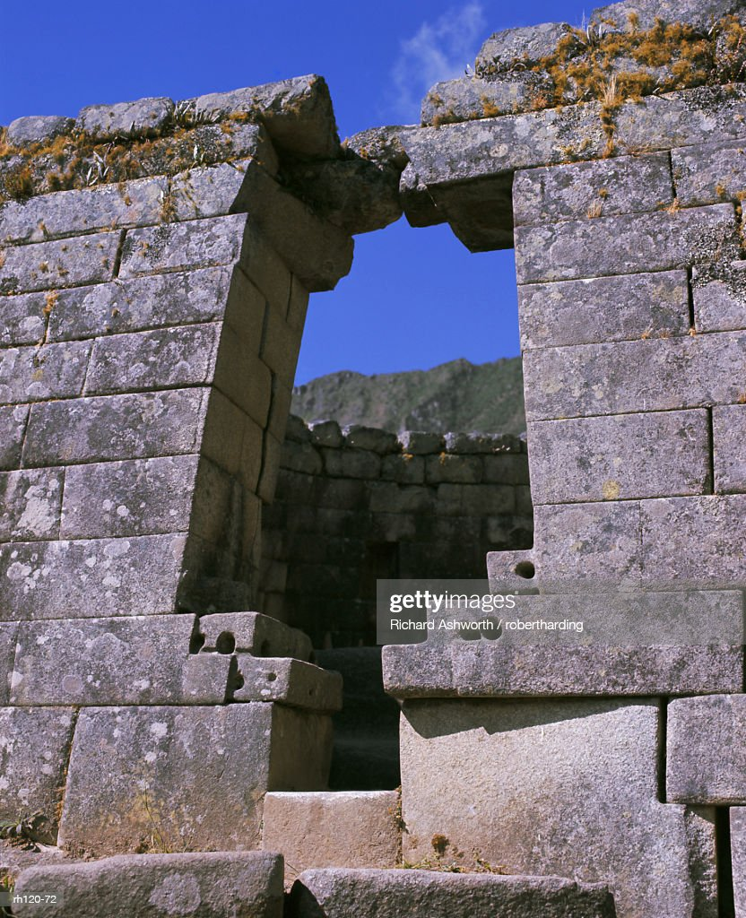Inca site, Machu Picchu, UNESCO World Heritage Site, Peru, South America : Foto de stock