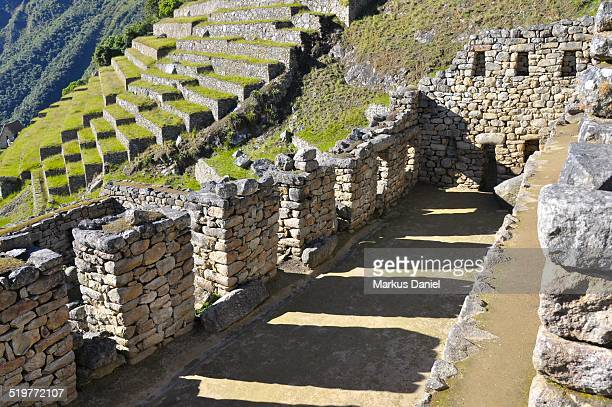 "inca storehouse in machu picchu - ""markus daniel"" stock pictures, royalty-free photos & images"