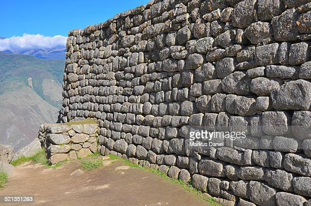 "inca wall near sacred plaza in machu picchu - ""markus daniel"" stock pictures, royalty-free photos & images"
