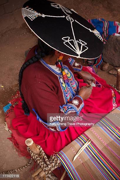 Inca Woman and her weaving