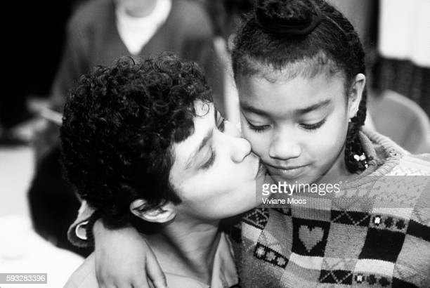 Incarcerated mothers visit with their children at Rikers Island   Location Rikers Island New York United States