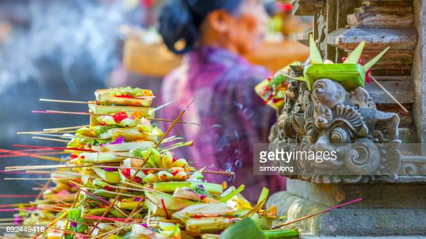 Incense and offerings in Bali Temple