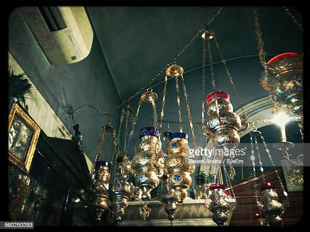 Incense Censers Hanging In A Row