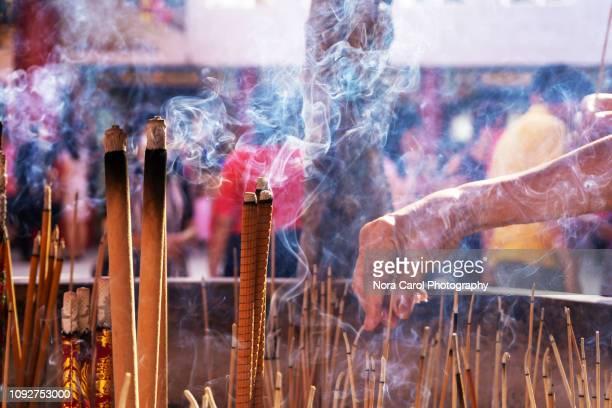 incense for praying - 異国情緒 ストックフォトと画像
