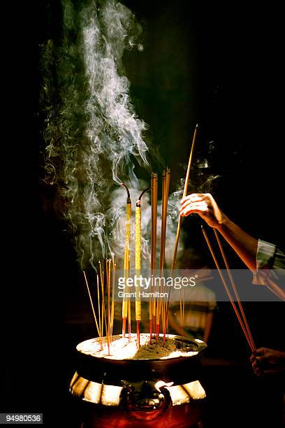 Incense in Buddhist Temple