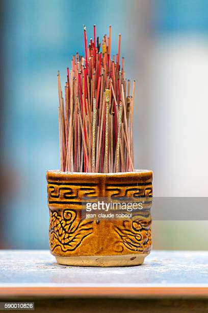 incense sticks at a temple