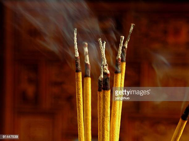 incense sticks - incense stock photos and pictures