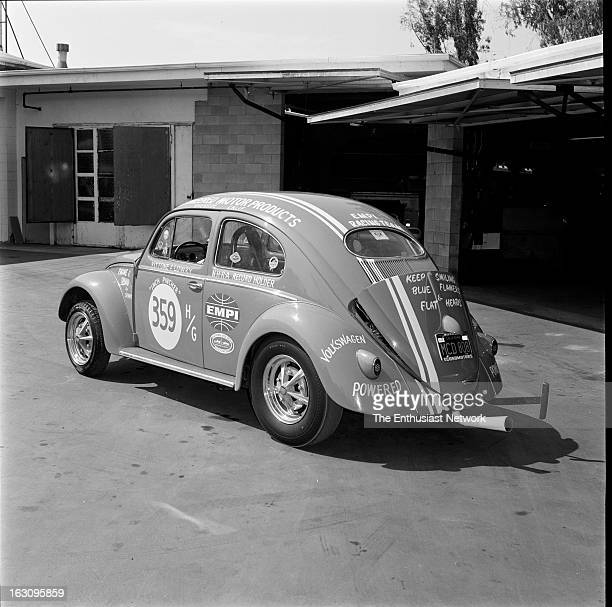 Inch Pincher VW Beetle Drag Car EMPI Engineered Motor Products Inc 1956 Oval Window Volkswagen Beetle converted to an H/Gas drag racing machine...