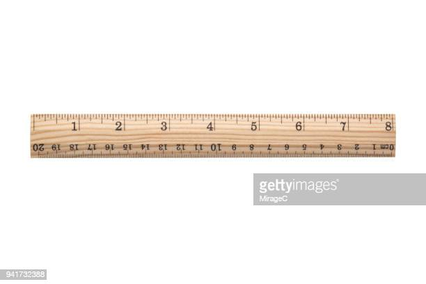 8 inch wood ruler - centimetre stock photos and pictures