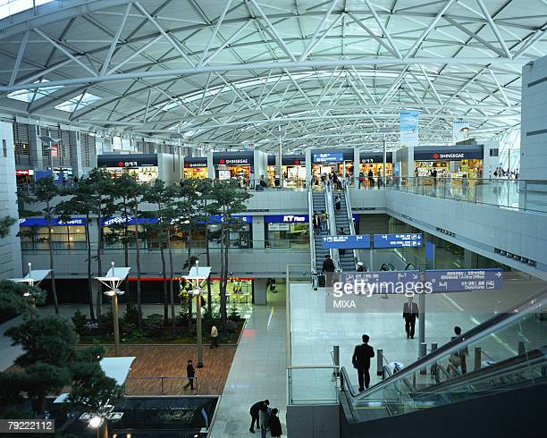 incheon airport, seoul, korea - incheon airport stock photos and pictures
