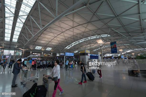 incheon international airport in south korea - incheon airport stock photos and pictures