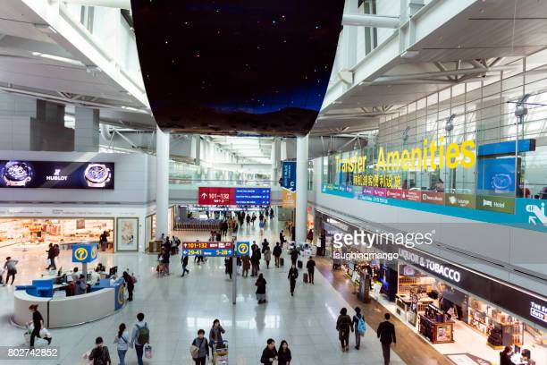 incheon international airport seoul korea - incheon airport stock photos and pictures