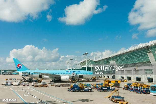 incheon international airport seoul, korean - incheon airport stock photos and pictures