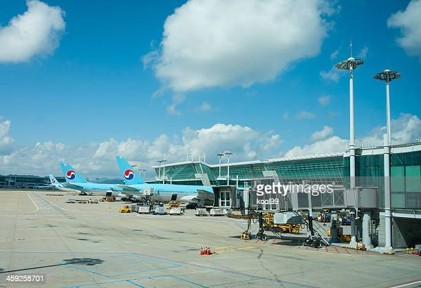 inchon international airport - incheon airport stock photos and pictures