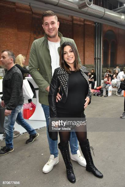 Inci Elena Sencer and her husband attend the GLOW The Beauty Convention at Station on November 5 2017 in Berlin Germany
