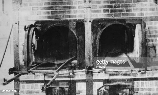 Incinerator in the concentration camp AuschwitzBirkenau Poland Photograph 1943
