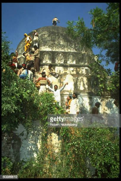 Incited Hindus rioting re razing Babri Masjid erecting Hindu temple to godking Rama