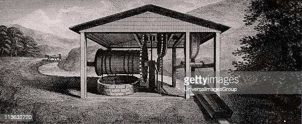 Inclined plane Machinery for raising and lowering tub boats to and from different levels on a canal From A Treatise on the Improvement of Canal...