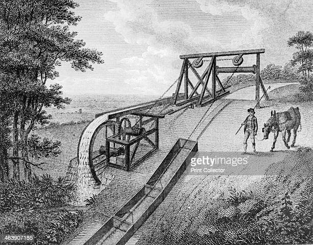 Inclined plane powered by water wheel in use on a canal 1796 The inclined plane was used to transfer vessels in this case tub boats from one level of...