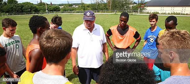 Included in his huddle speech at the end of the morning practice coach Mike McGraw cautions kids to quietly celebrate making the team when the list...