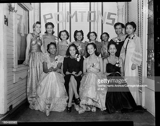 Pomtons Club members gathered for party at Butlers' Club 500 Maryland Avenue Shadyside Pittsburgh Pennsylvania December 1940 January 1941 Including...