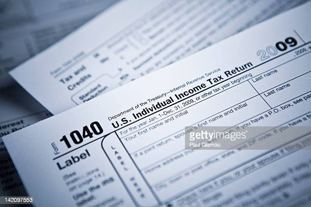 Income tax numbers at the accountant's office