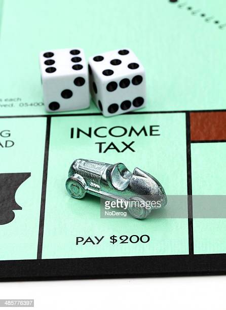 Income Tax on Monopoly game board