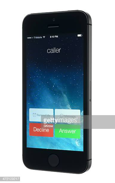 Incoming Call on an Apple iPhone 5s