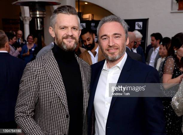 Incoming CEO of the British Film Institute Ben Roberts and British Consul General Michael Howells attend a celebration for British Oscar nominees on...