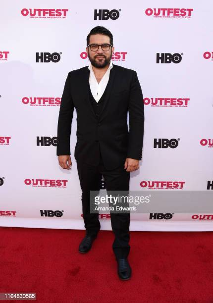 Incoming Executive Director of Outfest Damien Navarro arrives at the 2019 Outfest Los Angeles LGBTQ Film Festival Closing Night Gala Premiere of...