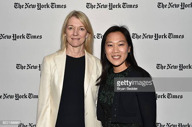 Incoming President of Science at the Chan Zuckerberg Initiative Cori Bargmann and CoFounder Chan Zuckerberg Initiative Priscilla Chan MD pose...