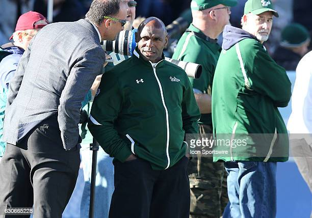 Incoming South Florida Bulls head coach Charlie Strong watches from the sidelines during the 2016 Birmingham Bowl between the South Carolina...