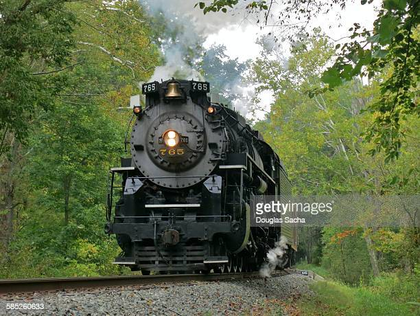 Incoming steam locomotive