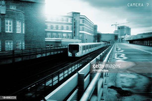 Incoming subway train