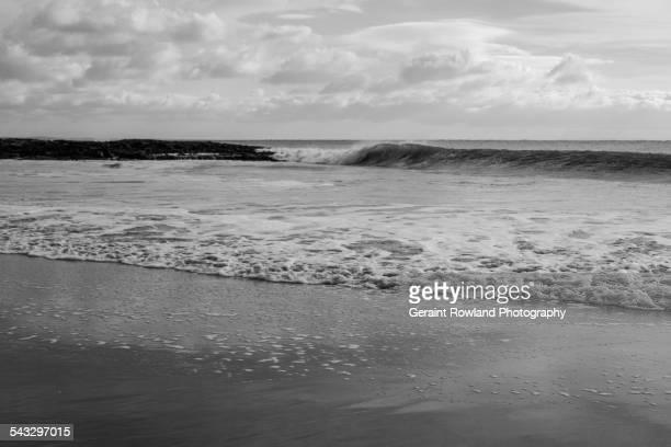 Incoming tide, Swansea, Wales