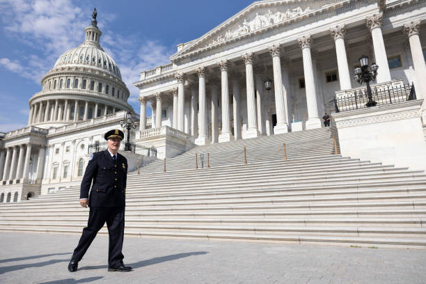 DC: Incoming U.S. Capitol Police Chief Thomas Manger Is Sworn In On The Capitol Steps