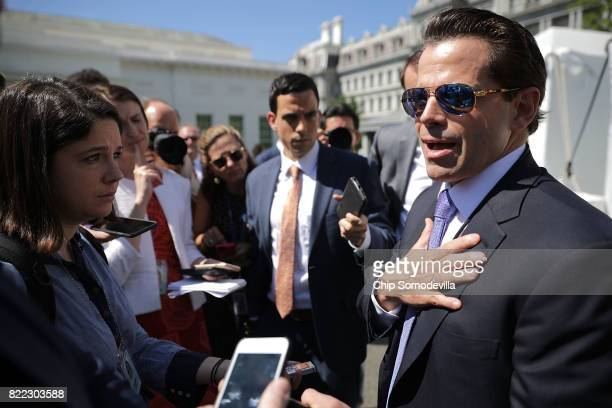 Incoming White House Communications Director Anthony Scaramucci talks with reporters during 'Regional Media Day' at the White House July 25 2017 in...