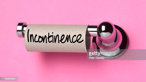 incontinence used up all the toilet roll - funny toilet paper foto e immagini stock
